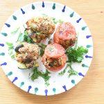 Gefüllte Tomaten & Zucchini