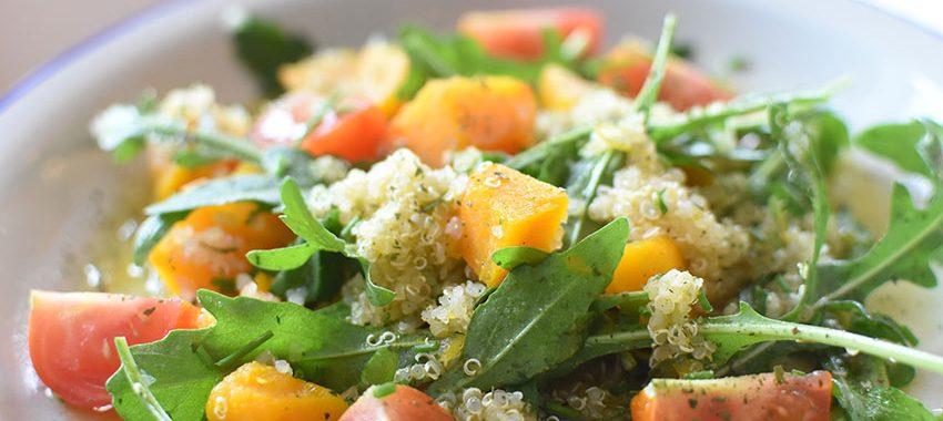 Quinoa-Kürbis-Rucola-Salat